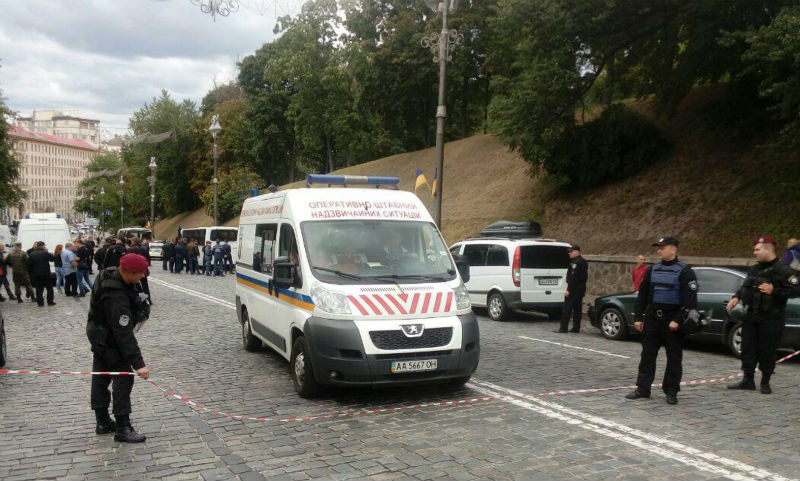 В Киеве прогремел взрыв возле здания кабмина