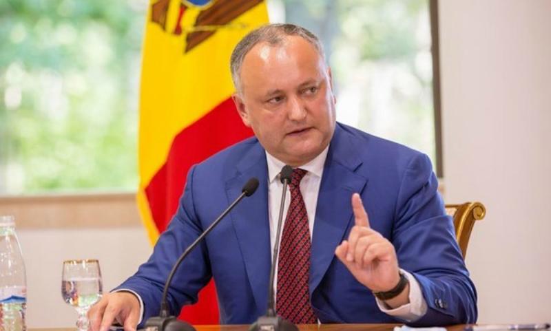 Додон: Я не допущу введения визового режима между Молдавией и Россией