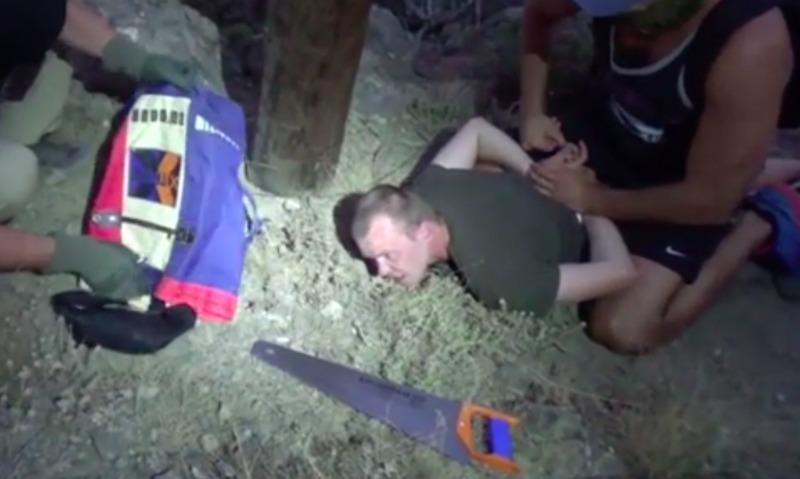 Появилось видео задержания сотрудниками ФСБ украинского диверсанта