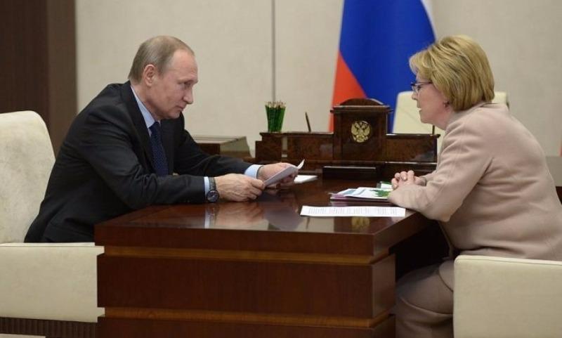 Скворцова похвасталась перед Путиным