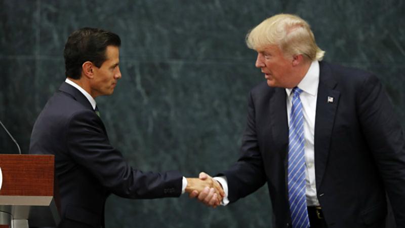 Энрике Пенья Ньето и Дональд Трамп
