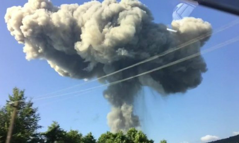 Стало известно о 35 россиянах, пострадавших от взрывов на военном складе в Абхазии