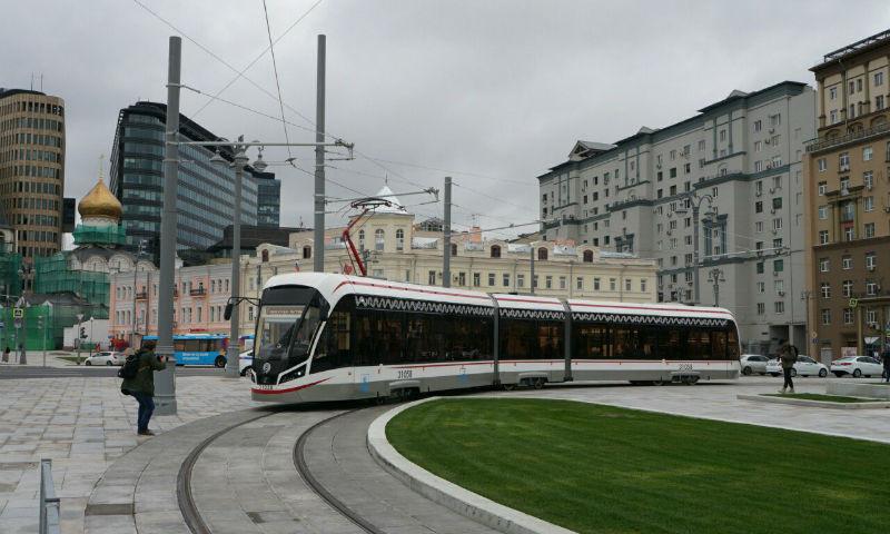 Исторический маршрут трамвая восстановлен в Москве в День города