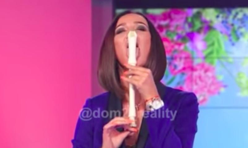 Бузова эротично показала публике, как надо обращаться с флейтой