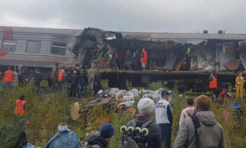 Опубликовано видео страшной железнодорожной аварии в ХМАО