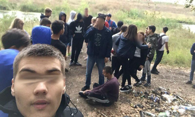 Зверское  избиение молодые люди  арматурой из-за девушки было снято навидео вБашкирии
