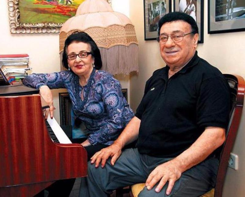 с женой зураб