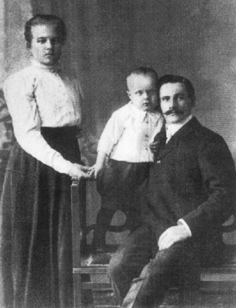 Спиридон Путин с семьей
