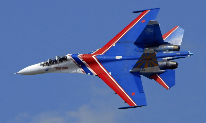 Российский истребитель Су-27 потерпел крушение на учениях в США