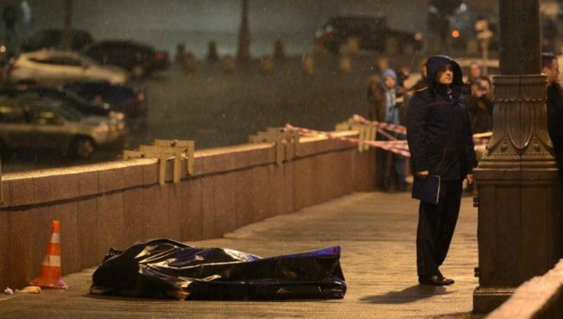 Фото с места убийства Немцова