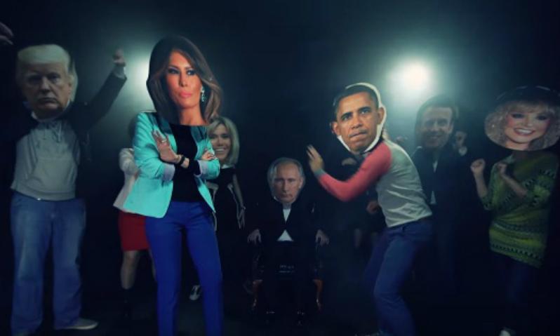 Клип с танцующими вокруг Путина мировыми лидерами стал хитом Интернета
