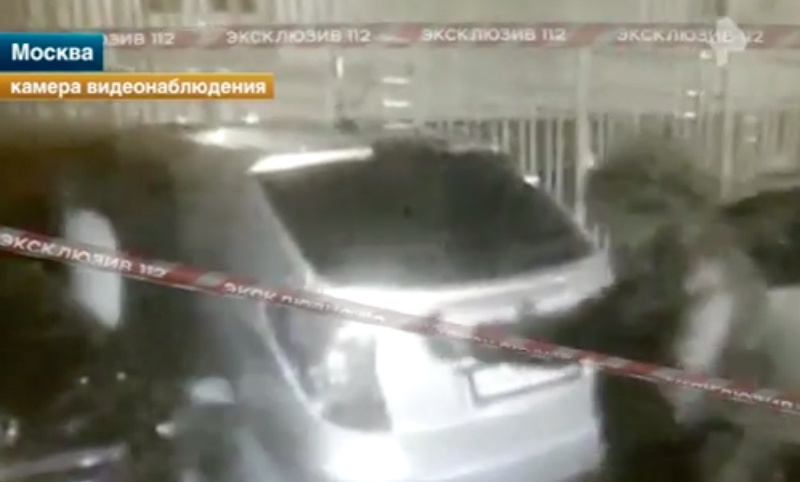 Расстрел бизнесмена в упор в центре Москвы попал на видео