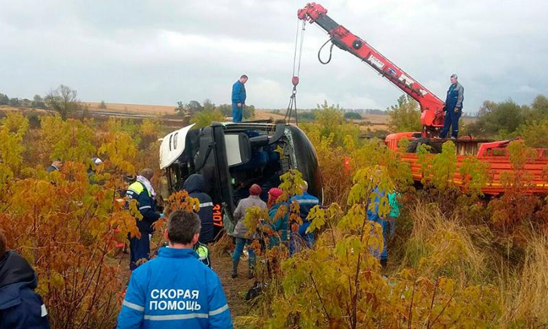 Опубликовано видео с места смертельной аварии в Подмосковье