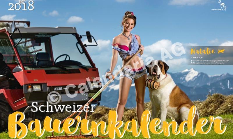 В Швейцарии вышел эротический календарь с соблазнительными крестьянками