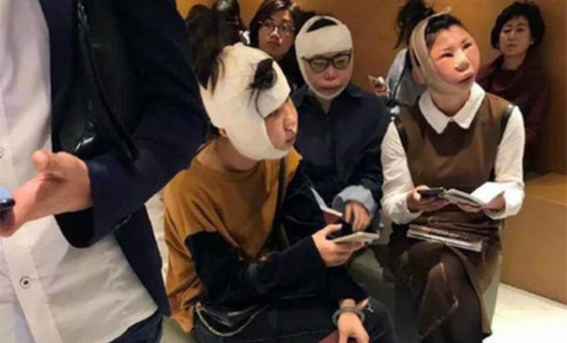 Три китаянки после пластических операций застряли в аэропорту из-за неузнаваемых лиц