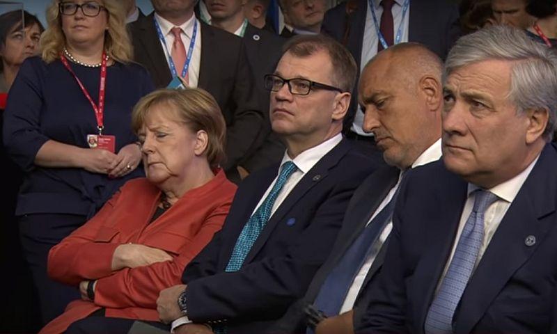 Монотонная речь Кальюлайд утомила Меркель, и та прилюдно уснула