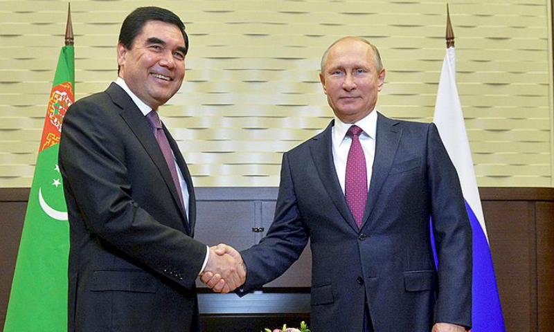 Диктор не смог выговорить отчество президента Туркменистана во время его встречи с Путиным