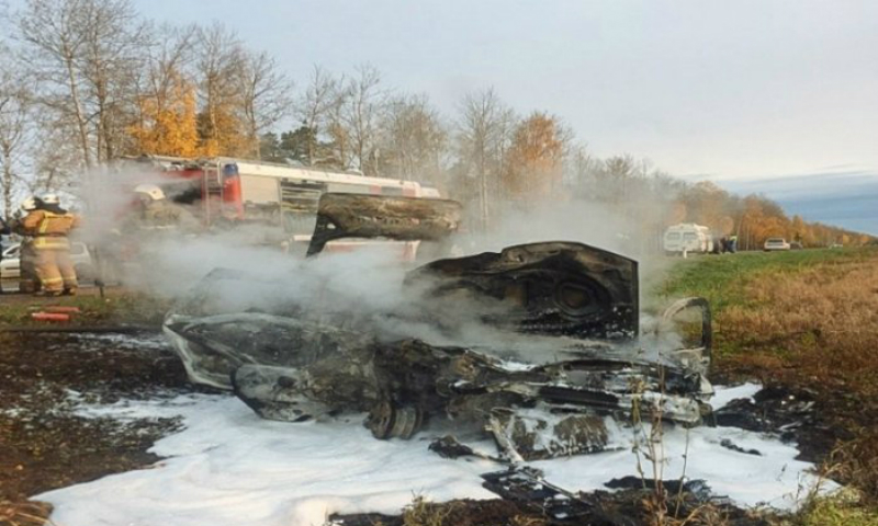 Настоятельница монастыря сгорела в ДТП в Псковской области