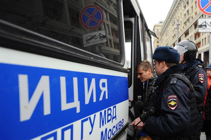НаМанежной площади в столице России задержали 80 человек