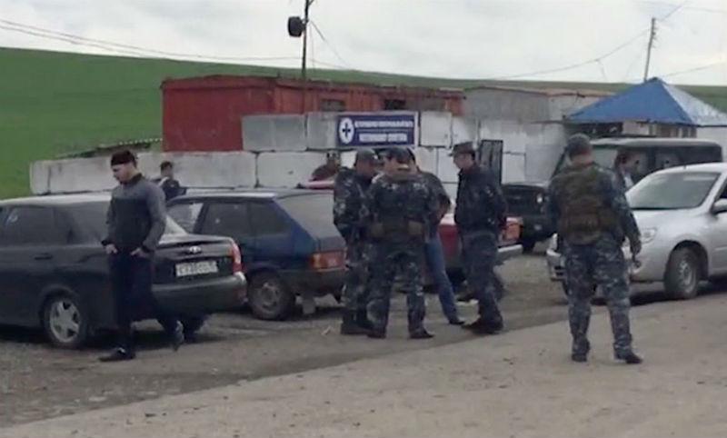 Опубликовано видео атаки смертников на пост ДПС в Ингушетии