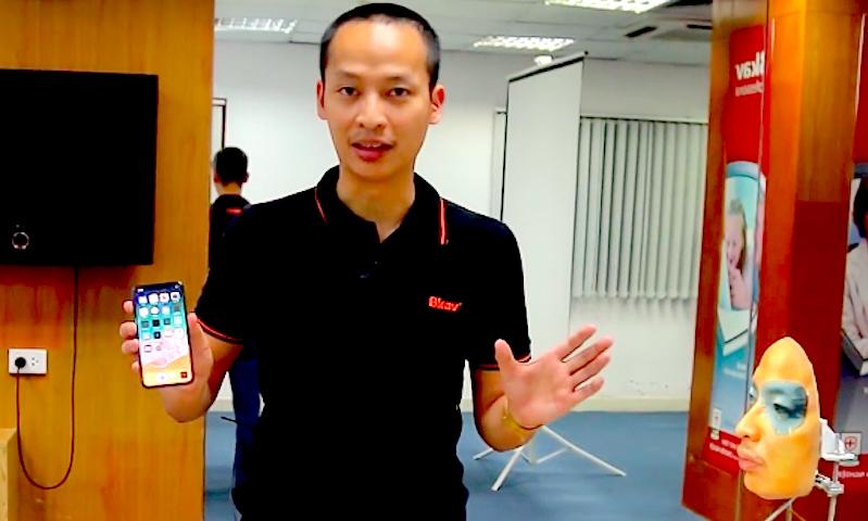 Взлом защиты iPhone X сняли на видео вьетнамские умельцы