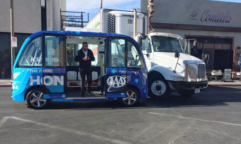 Человек стал виновником аварии с беспилотным автобусом в Лас-Вегасе