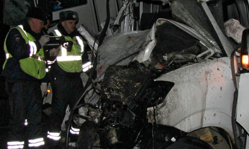 В Марий Эл лесовоз врезался в микроавтобус: более 10 человек погибли