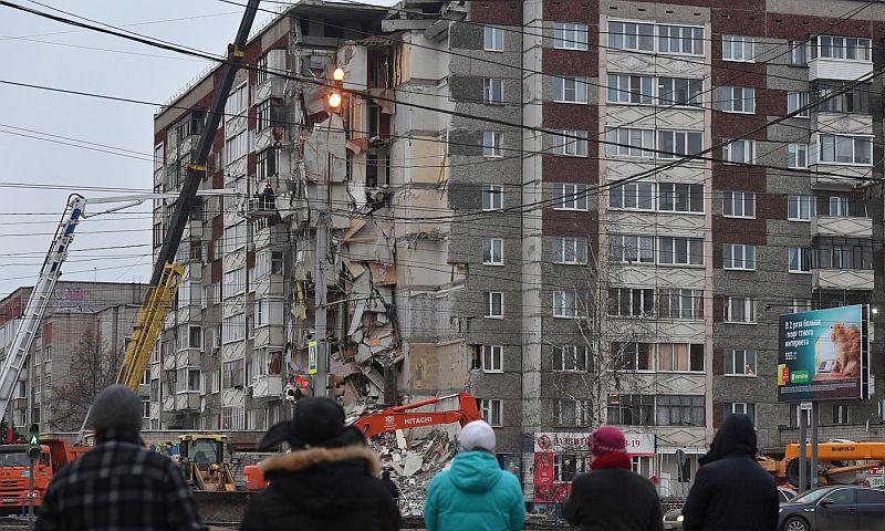 На руинах обрушившегося дома в Ижевске мародерам поживиться не удалось