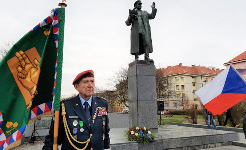 Памятник маршала Конева в Праге