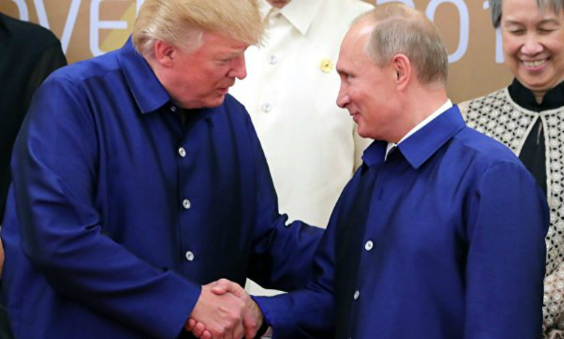 Владимир Путин и Дональд Трамп поговорили