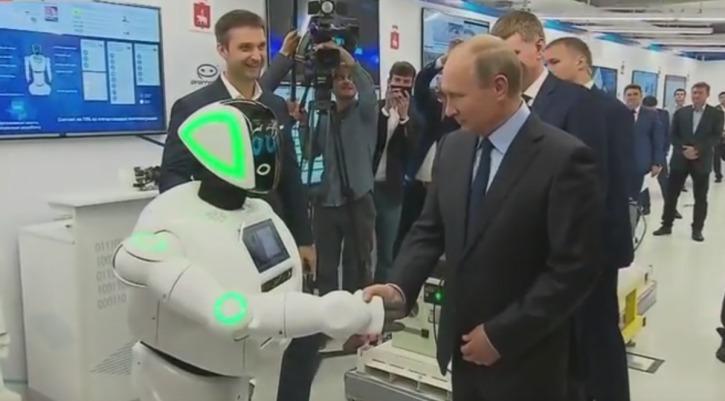 робот и Путин