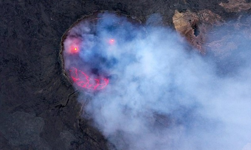 Редкое фото улыбающегося вулкана тронуло пользователей Сети