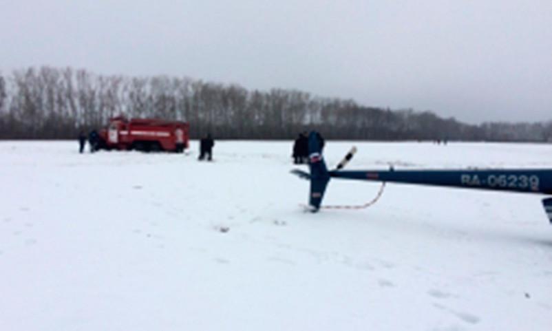 Опубликовано видео с места крушения вертолета в Тамбовской области