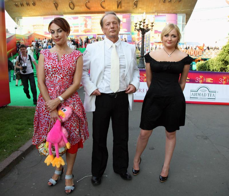 Со второй женой и дочерью
