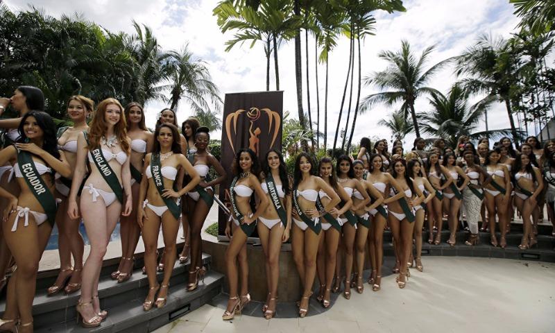 На Филиппинах прошла фотосессия в купальниках участниц конкурса красоты «Мисс Земля»