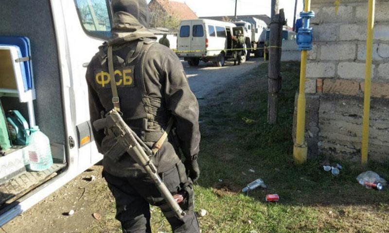 Опубликовано видео расстрела троих террористов в Ставрополе