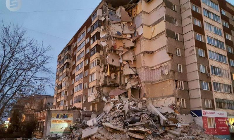 Жильцы дома, пострадавшего от взрыва газа в Ижевске, вернутся в свои квартиры до конца года