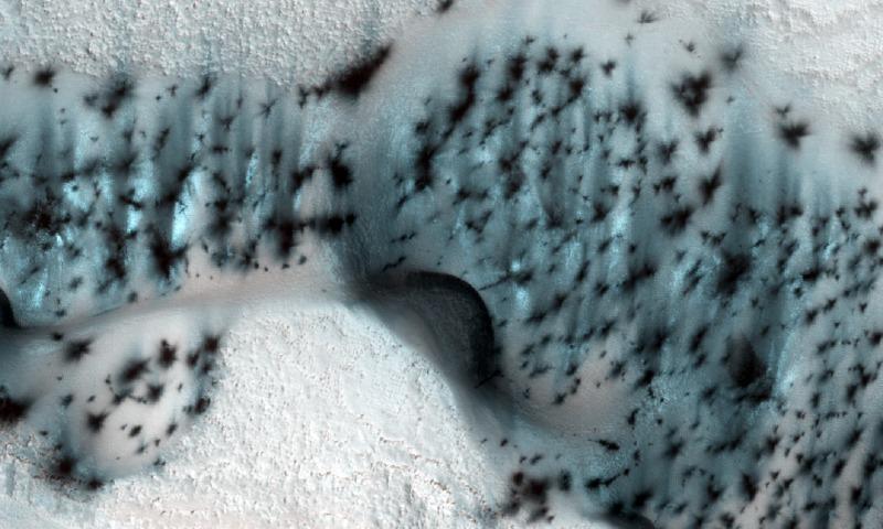 NASA: Сейчас зима и на Марсе