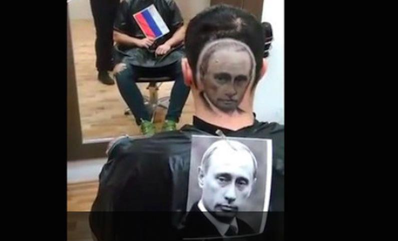 Серб заказал парикмахеру выстричь на голове портрет Путина