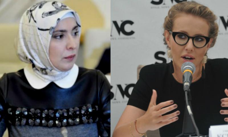 Конкуренцию Собчак на выборах президента составит жена муфтия Дагестана