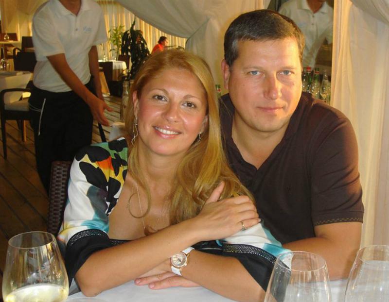 Олег Сорокин с женой - бизнес-леди Эладой Нагорной