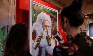 Российские художники сделали Путина супергероем