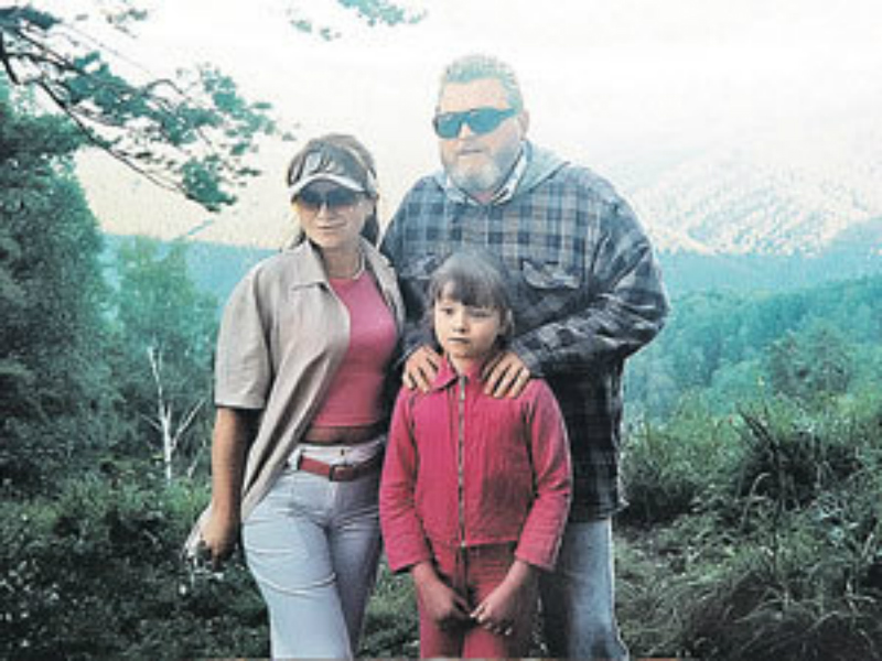 С Надеждой Жарковой и дочерью Настей