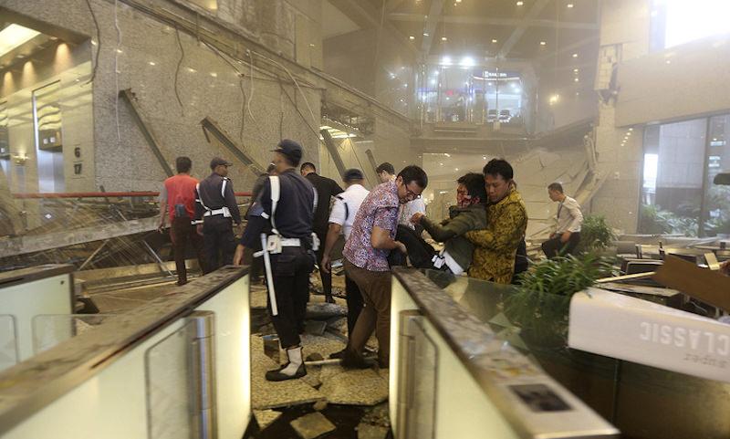 Фондовая биржа в Индонезии обрушилась в прямом смысле