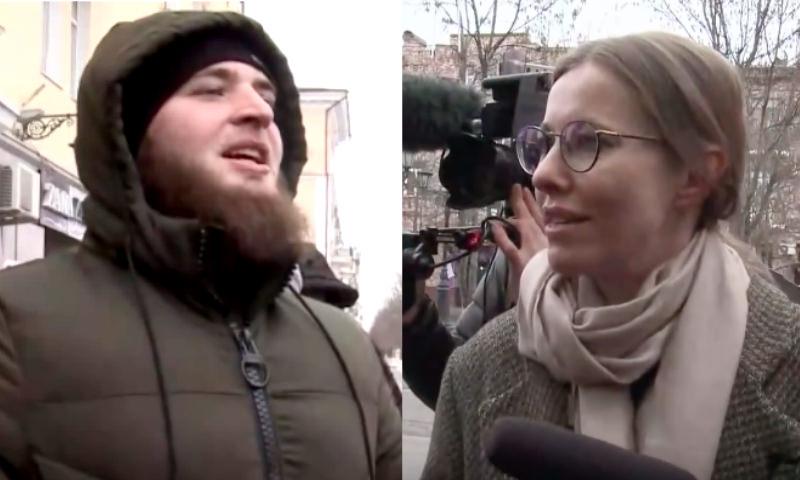 «Кофе вреден для лошадей»: чеченцы поговорили с Собчак в Грозном