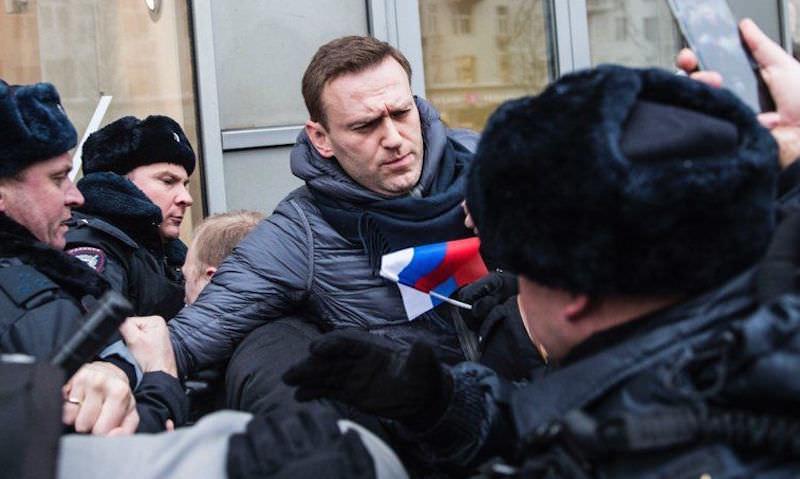 Алексей Навальный задержан на митинге в Москве