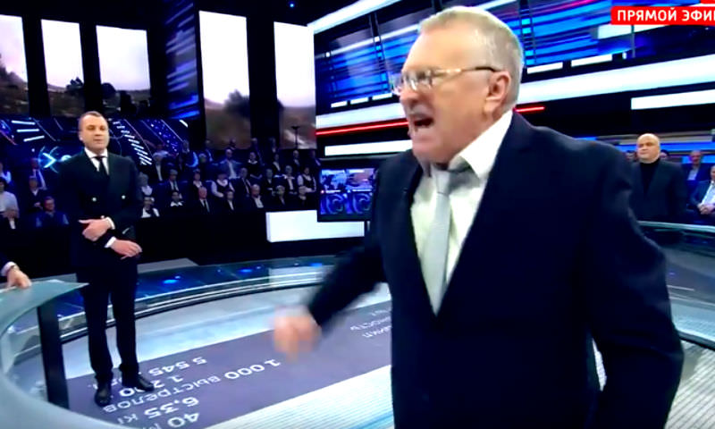 Жириновский атаковал украинского политолога в прямом эфире