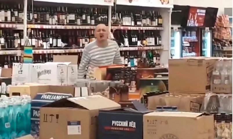 Покупатель разнес винный отдел