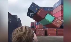 Опубликовано видео разбушевавшейся в Нидерландах стихии
