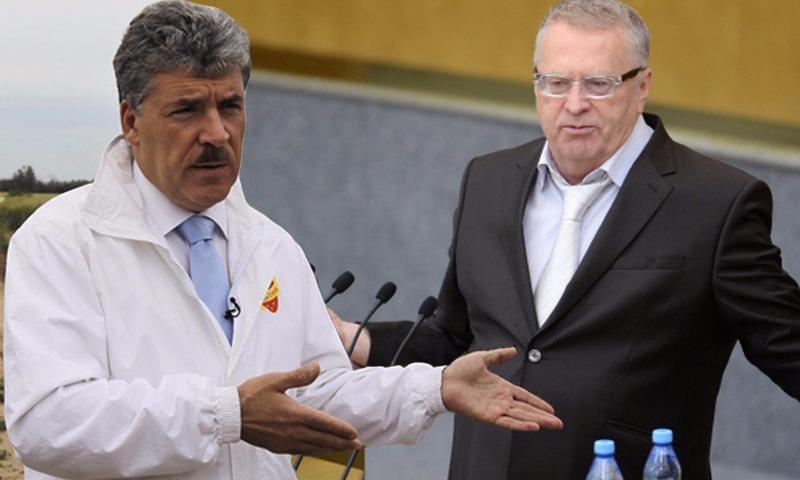 Грудинин потерял в предвыборном доверии россиян, и его догнал Жириновский